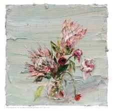Allison Schulnik, 'Pink Proteas #2', 2012, Mark Moore Fine Art