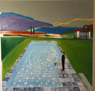 , 'Garda Lake (Swimming Pool)​,' 2018, Palazzo Monti