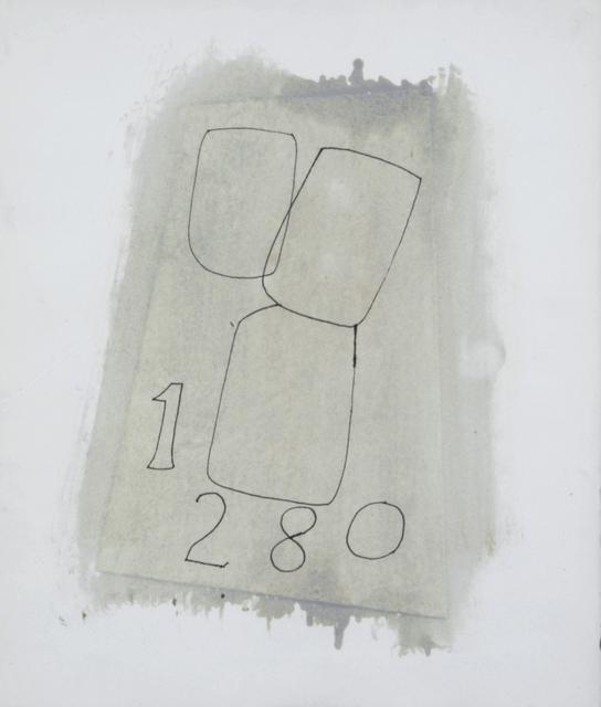 Ben Nicholson, '1,2,8,0', 1970, Galerie Sophie Scheidecker