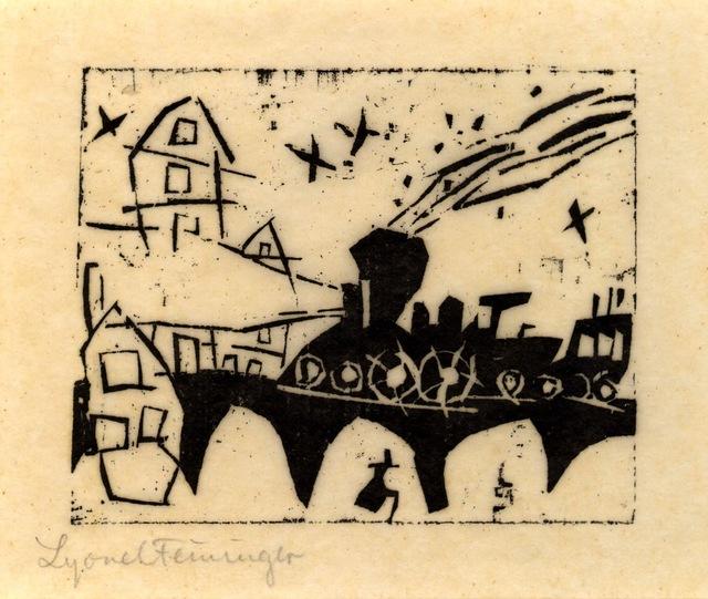 , '(Zug auf der Brücke) (Locomotive on the bridge),' 1918, Moeller Fine Art