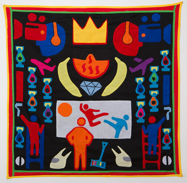 , 'Surtenture #07 (...for the crown shall rest on your head, or your head on the crown),' 2015, 50 Golborne
