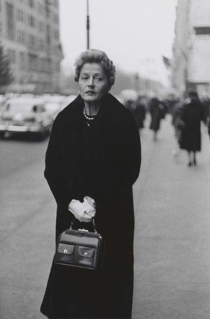 , 'Woman with white gloves and a pocket book, N.Y.C. ,' 1956, San Francisco Museum of Modern Art (SFMOMA)