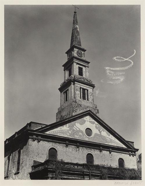 Berenice Abbott, '[Sky-writing spiral over St. Marks Church] New York City', 1937, Doyle