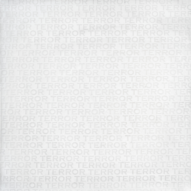 Beejoir, 'Terror (Black & White)', 2013, Mixed Media, Screen print on acrylic painted deep edge canvas, Tate Ward Auctions