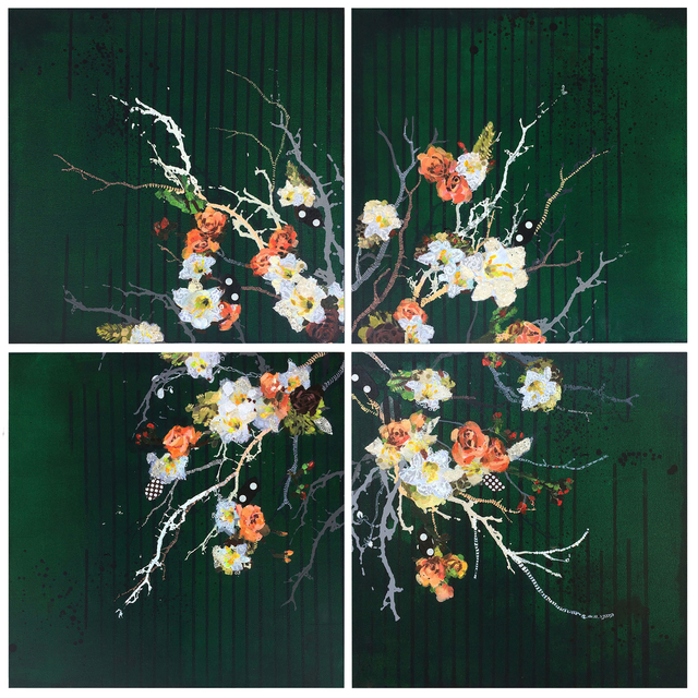 , 'Green Floral,' 2018, Newzones