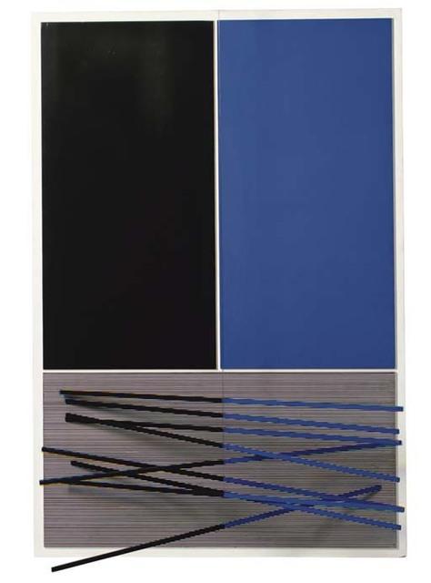 , 'Grandes barres bleues et noires,' 1965, Galeria Freites