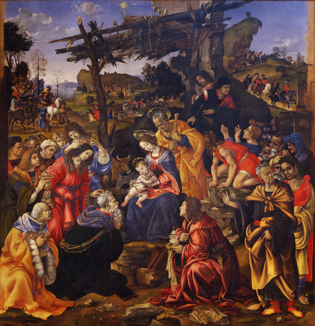 Filippino Lippi, 'The Adoration of the Magi', 1496, Galleria degli Uffizi