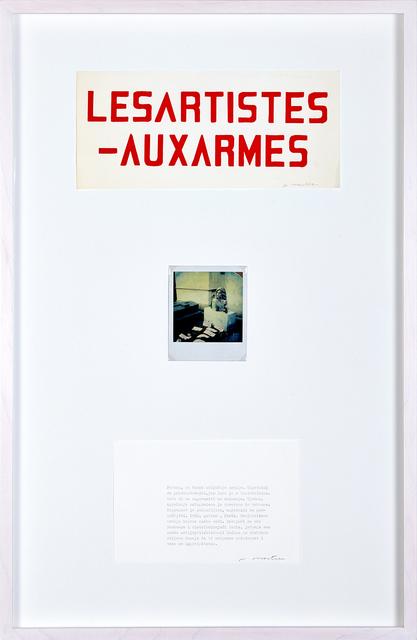 , 'Les artistes aux armes,' 1982, Aanant & Zoo