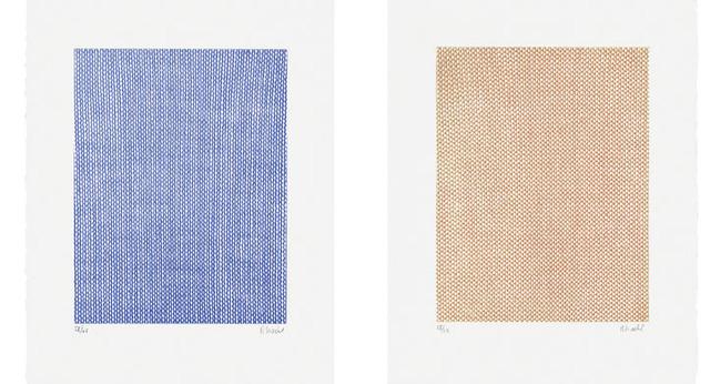 Rosemarie Trockel, 'Falling Blue, Rising Red', 1998, Schellmann Art