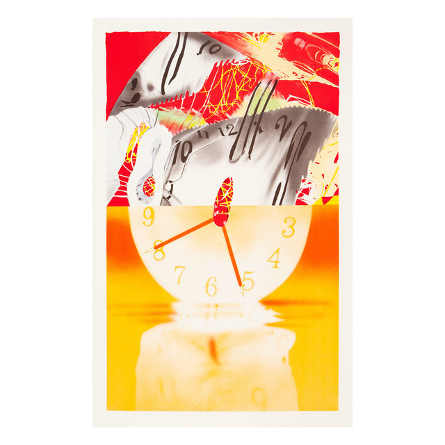 James Rosenquist, 'Hole in the Center of the Clock', 2007, Painting, Lithographie on white Somerset deckle-edged paper, 300 g/m2, Fondation Beyeler
