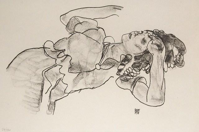 , 'Liegendes Mädchen, Halbfigur,' 1918, Tanya Baxter Contemporary