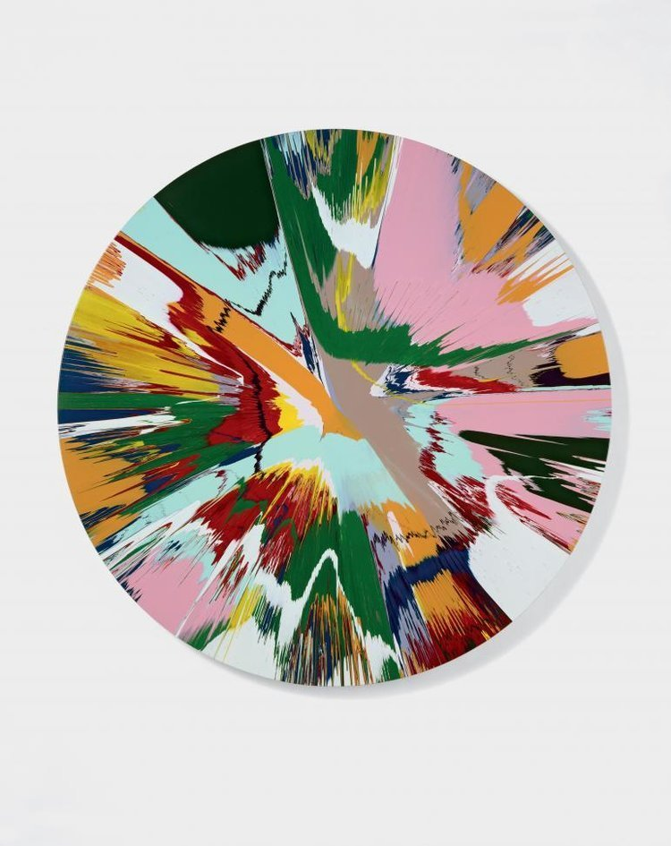 """DAMIEN HIRST """"Beautiful Winged Creatures Eternal Joy of Creation, What's Up There? Painting"""", 2007"""