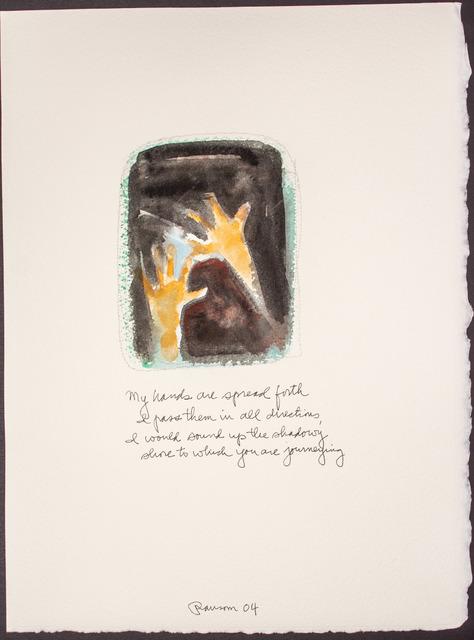, 'My hands are spread..,' 2004, BlackBook Presents