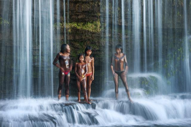 , 'Waterfall Bath,' , Paul Nicklen Gallery