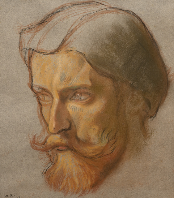 William Rothenstein, 'Augustus John', 1903, Drawing, Collage or other Work on Paper, Pastel on paper, Ben Uri Gallery and Museum