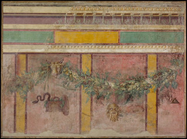 Unknown Roman, 'Wall painting from the west wall of Room L of the Villa of P. Fannius Synistor at Boscoreale', ca. 50–40 B.C., The Metropolitan Museum of Art