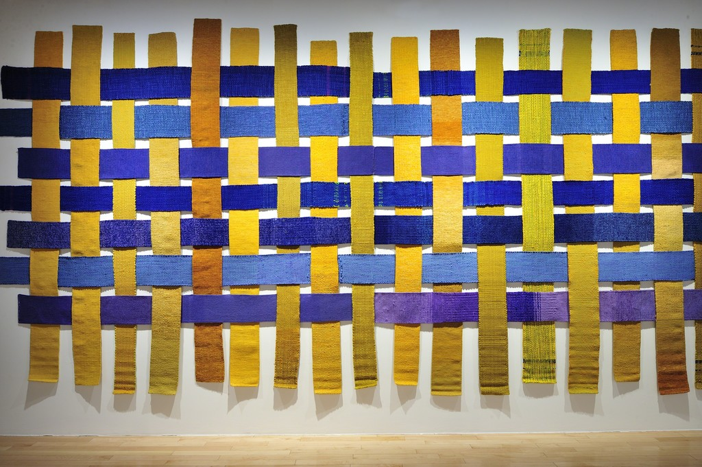 "View of ""Sheila Hicks - Free Threads, Textile and its Pre-Columbian Roots, 1954-2017"", Museo Amparo, Puebla, Mexico, 2017."