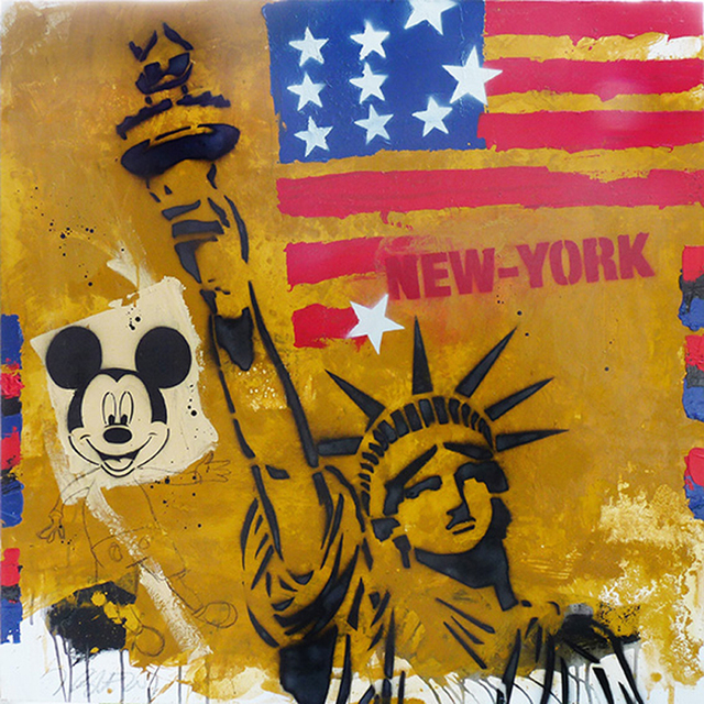 , 'New-York, freedom and Mickey,' 2016, Galry