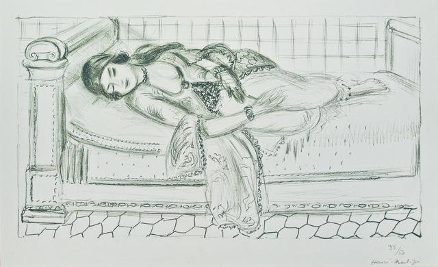 , 'Orientale sur lit repos, sol de carreaux rouges,' 1929, Galerie Raphael