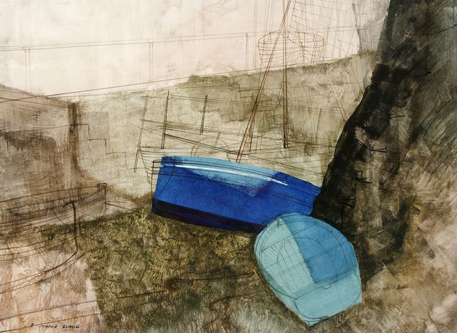 Donald Blake, 'Two blues and harbour wall', Chiswick Auctions