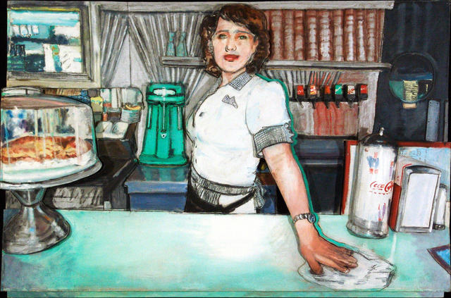Larry Rivers, 'Deco Diner II', 1996, The Sunfair Gallery