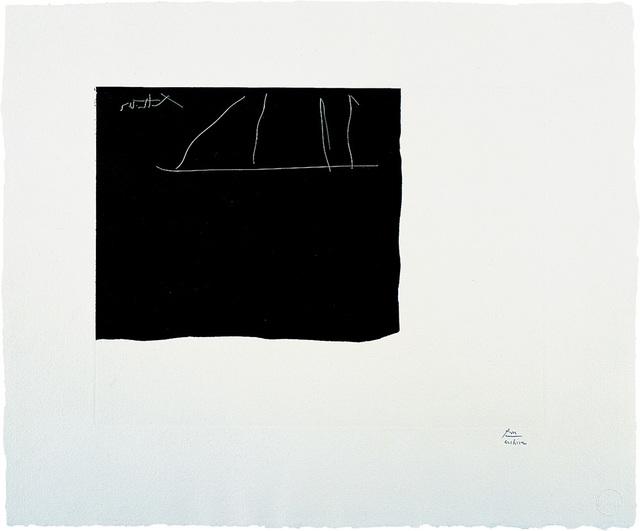 Robert Motherwell, 'Black Flag', 1983, Print, Etching on Georges Duchene Hawthorne of Larroque handmade paper, Edition of 42, Bernard Jacobson Gallery