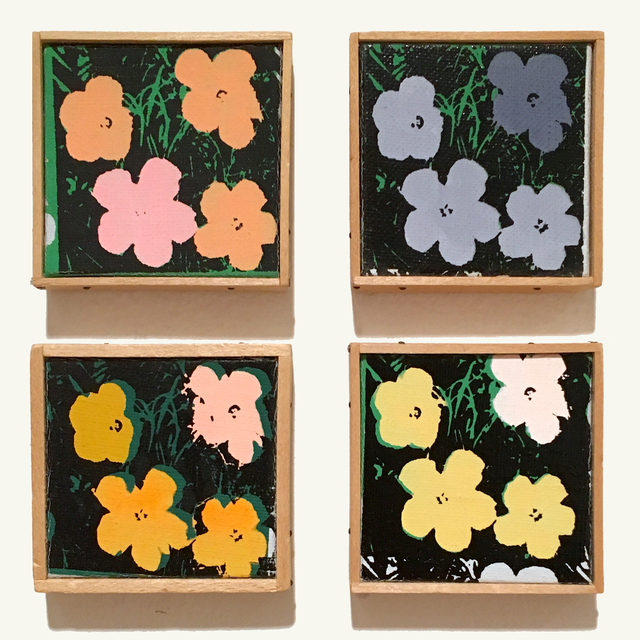 ", 'Suite of 4 ""Andy Warhol Flowers"" Appropriations,' 1971, Joseph K. Levene Fine Art, Ltd."