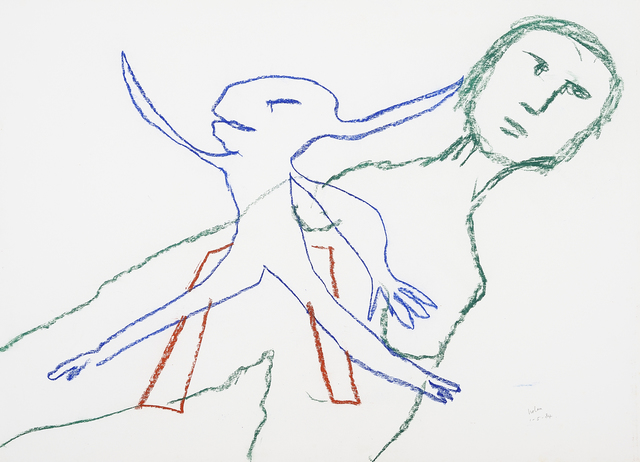 , 'Man and rabbit figure,' 1984, Charles Nodrum Gallery