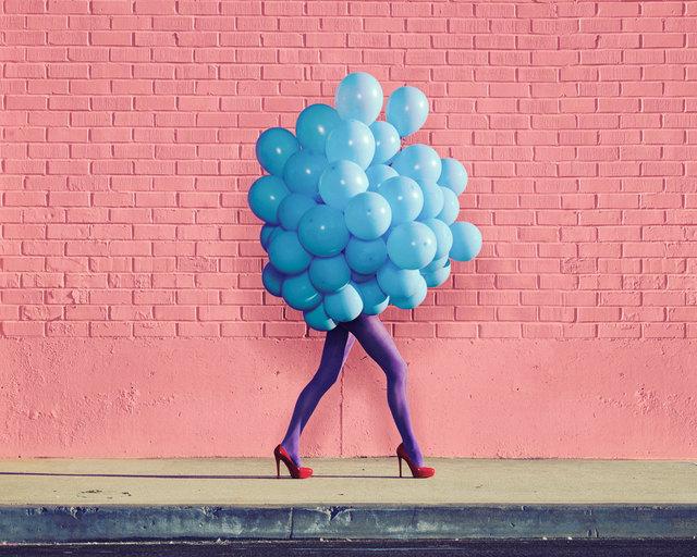 Ramona Rosales, 'Je Ne Suis Pas Seul Sans Toi (Blue Balloons)', 2013, Photography, Digital pigment print, De Soto Gallery