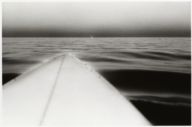 , 'Surfboard with Setting Sun, Santa Monica, California,' 1980, CHRISTOPHE GUYE GALERIE