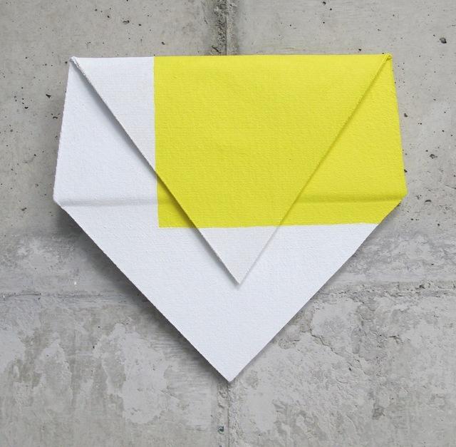 , 'Relevo (amarelo, branco),' 2014, Galeria Leme