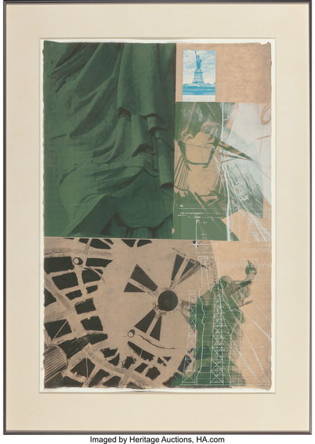 Robert Rauschenberg, 'Statue of Liberty, from New York, New York series', 1983, Print, Screenprint in colors with collage on Japon nacre, Heritage Auctions