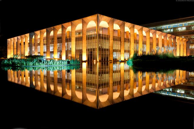 Andrew Prokos, 'Palacio do Itamaraty at Night, Brasilia', 2015, Andrew Prokos Gallery