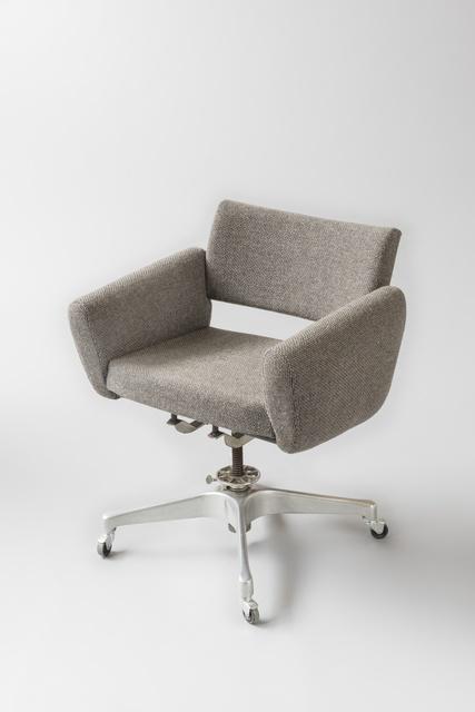 Joseph-André Motte, 'Rolling desk armchairs 760T', 1957, Design/Decorative Art, Polished aluminium cast, foam and fabric, Galerie Pascal Cuisinier