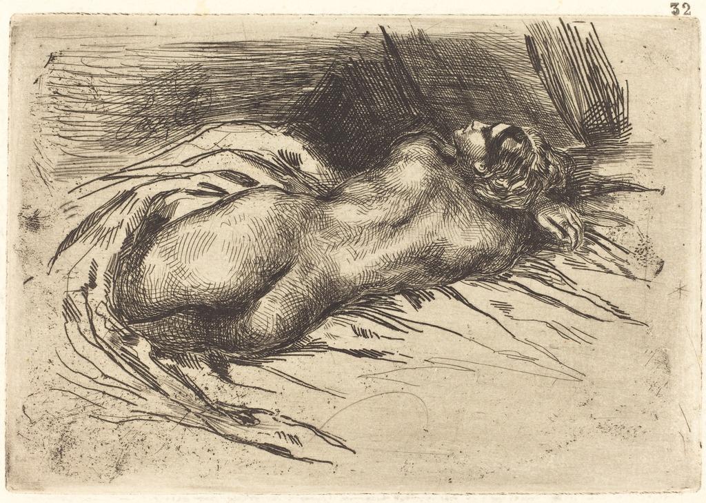Study of a Woman, Viewed from the Back (Étude de femme vue de dos)