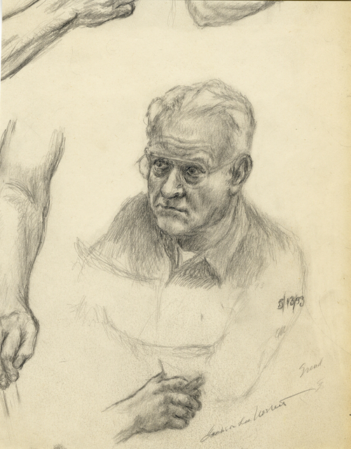 , 'Self Portrait Drawing,' 1993, Stone + Press Gallery