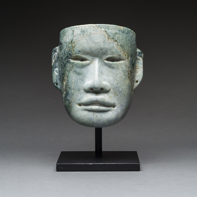 Unknown Pre-Columbian, 'Olmec Pesquero Style Jade Mask', 900 BC to 500 BC, Barakat Gallery