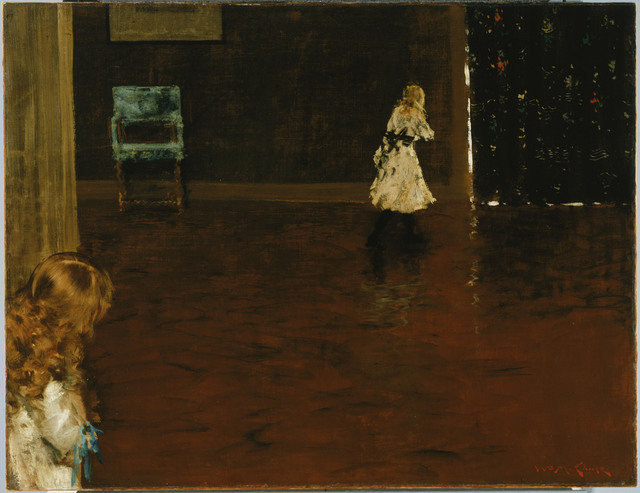 William Merritt Chase, 'Hide and Seek', 1888, Phillips Collection