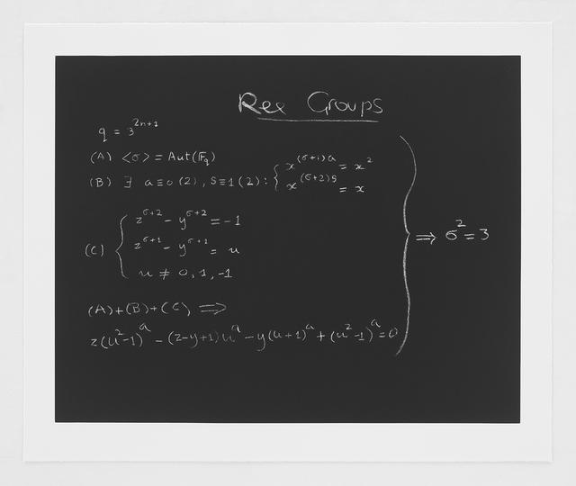 , 'The Ree Group Formula,' 2014, Bernard Jacobson Gallery