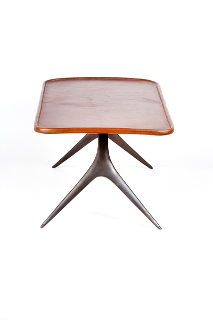 , 'Low Brass and Leather Table,' ca. 1950, Patrick Parrish Gallery