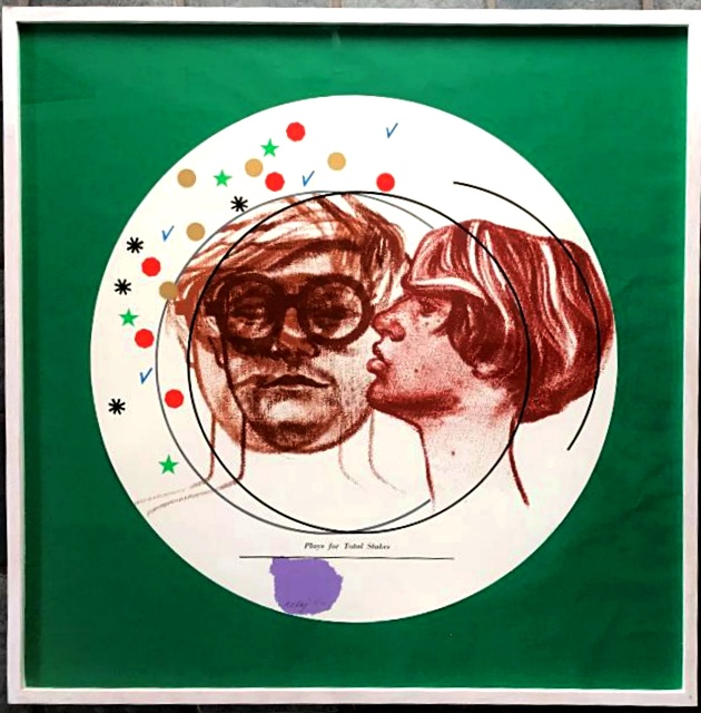 R. B. Kitaj, 'Plays for Total Stakes (Portrait of David Hockney and Peter Schlesinger), Kinsman 1994 32, Ramkalawon 2013 32a ', 1968, Alpha 137 Gallery
