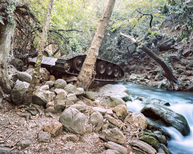 , 'Syrian Tank (1973), Banias National Park,' 2016, PHOTO IS:RAEL