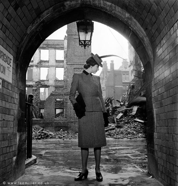 , 'Model wearing Digby Morton Suit, London, England,' 1941, Lee Miller Archives