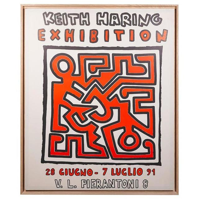 Keith Haring, 'Exhibition Poster', 1991, Print, Silkscreen on paper, Samhart Gallery