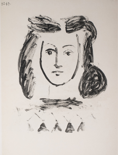 Pablo Picasso, 'Buste De Jeune Fille (Bust of a Young Girl), 1949 Limited edition Lithogrph by Pablo Picasso', 1949, White Cross