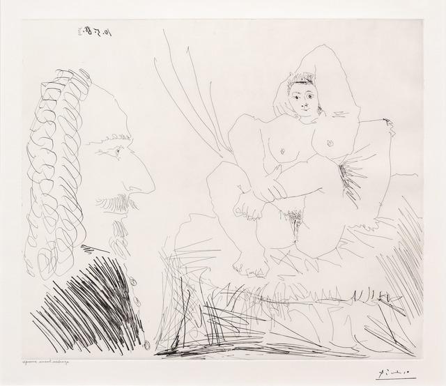 Pablo Picasso, 'Courtisane au Lit avec un Visiteur, from the 347 Series', 1968, Leslie Sacks Gallery