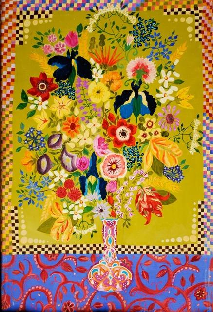 , 'Flowers in a Morrocan Vase,' 2014, Rebecca Hossack Art Gallery