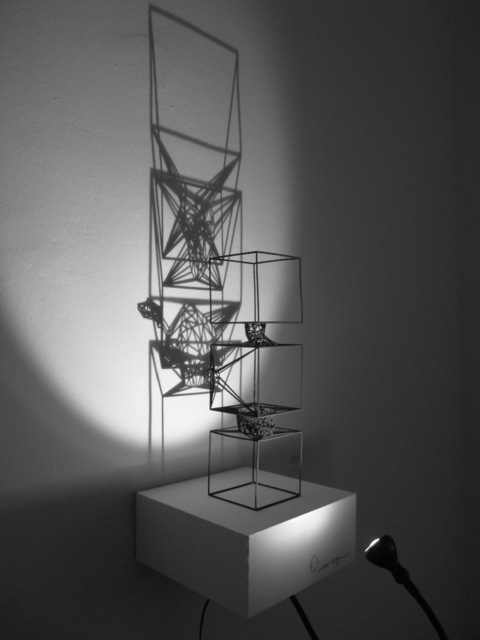 , '3 Cubes Man ,' 2010, Joerg Heitsch Gallery