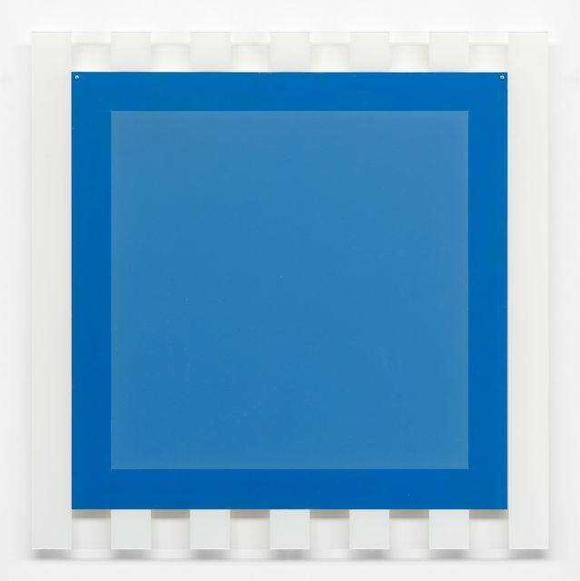 Daniel Buren, '(Sans titre) 6 (Elément carré bleu encadré de rayures blanches)', 2005, Xavier Hufkens