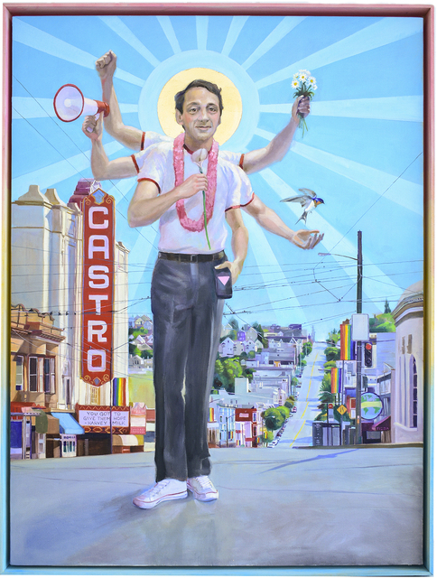 Carl Grauer, 'Harvey Milk (You Have Got to Give Them Hope)', 2019, Carrie Haddad Gallery